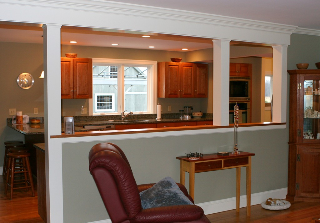 Custom Kitchen South Deerfield Ma Renaissance Builders Here S The Opening We Created Between Living Room And